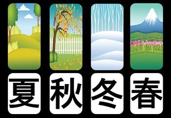 Seasons Kanji Posters