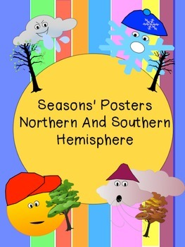 Seasons' Posters, Northern And Southern Hemisphere