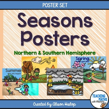 Seasons Posters - Northern and Southern Hemisphere