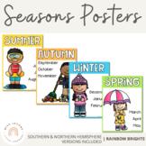 Seasons Posters - Classroom Decor {Rainbow Theme}