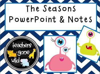 Seasons PowerPoint & Notes Sheet