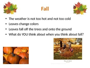 Seasons Powerpoint with Art Activity