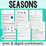Seasons Guided Reading & Practice - PDF & Digital