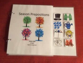 Seasons Preposition Book