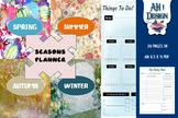 Seasons Printable Daily Weekly Monthly Planner