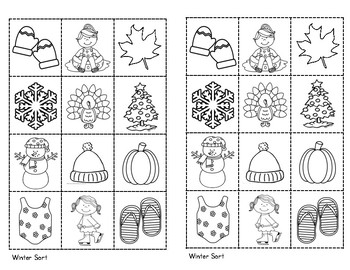 All About the Seasons Printables