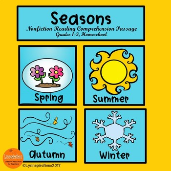 Seasons/ Reading Comprehension Activity