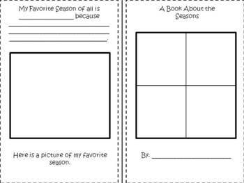 seasons reproducible book by the land of 2nd grade tpt. Black Bedroom Furniture Sets. Home Design Ideas