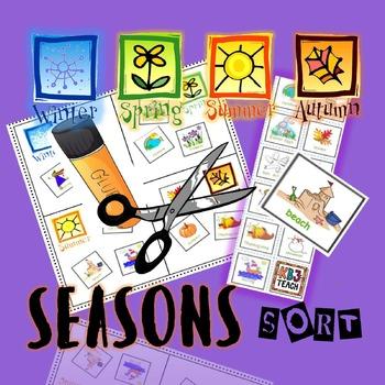 Seasons Sort Cut & Paste