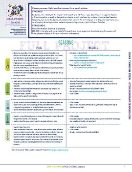 Seasons - STEM Lesson Plan With Journal Page