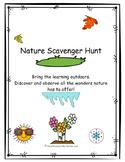 Seasons Scavenger Hunt- Nature Walks