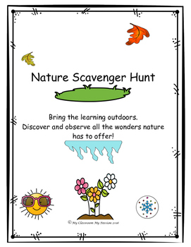 Seasons Scavenger Hunt- Nature Walks