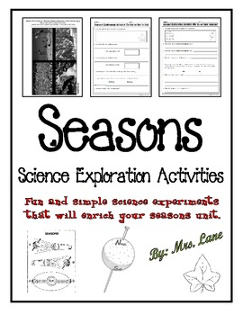 Seasons Science Exploration Activities (4 Experiments)