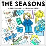 Seasons Science Posters Spinner Sort Worksheets Dress Me Dolls