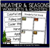 Our Four Seasons ~ Integrating Science, Vocabulary, Writin