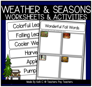 Seasons Science, Writing and Vocabulary for my ESL kids