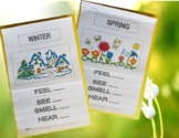 SEASONS AND SENSES Flip Books - Informational text