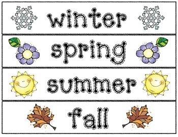 Seasons & Senses Writing Craftivities