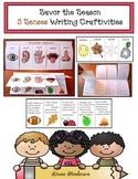 """""""Seasons & Senses"""": Descriptive Writing Prompt Crafts Using the 5 Senses"""