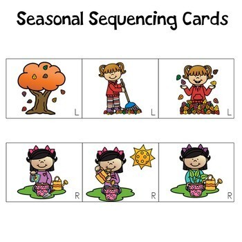 Seasons Sequencing Cards and Writing Pages