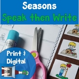 Seasons Sequencing Pictures and Writing