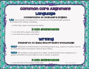 Seasons Shape Books for Writing - Kinder L.K.1 ~ W.K.7 ~ W.K.8