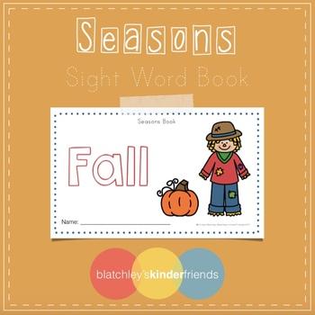 Seasons Sight Word Book - FALL *(BONUS TEACHER BOOK)*