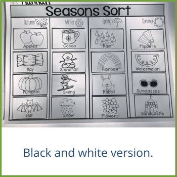 Seasons Sort