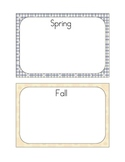 Seasons Sort File Folder Game - Sorting Pictures by Season