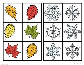 Seasons Sort It! Independent Work Task