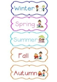 Seasons Sort Pocket Chart Game