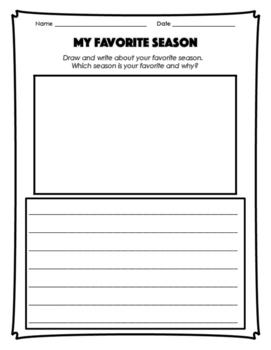 Seasons Sort and Drawing/Writing Activities