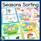 Four Seasons Picture Sorting Posters and Worksheet