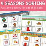Seasons Sorting Activity (Clipart)