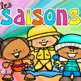 Seasons Sorting Cards in FRENCH