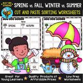 Seasons Sorting | Category Sort | Cut and Paste Worksheets