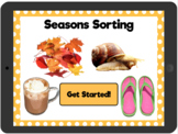Distance Learning Seasons Sorting: Interactive PDF
