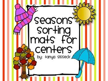Seasons Sorting Mats