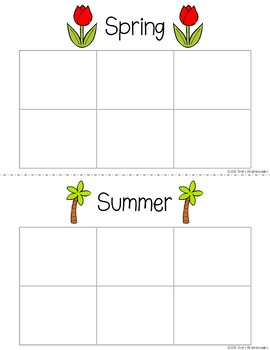 Seasons Sorting Mats and Worksheets