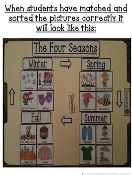 Seasons Sorting and Matching File Folder Games Centers