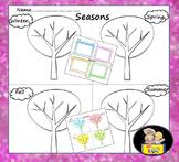 Seasons - Fall, Winter, Spring, Summer - Art Activity