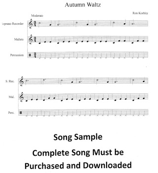 Seasons Suite for Recorder and Orff Ensemble