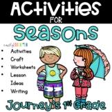 Seasons Journeys Supplement Activities 1st Grade Unit 3 Lesson 13