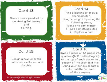 Task Cards -Seasons  - Activities X 40