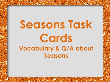 Seasons Task Cards