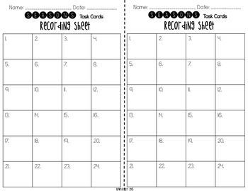 Seasons Task Cards {Scoot}