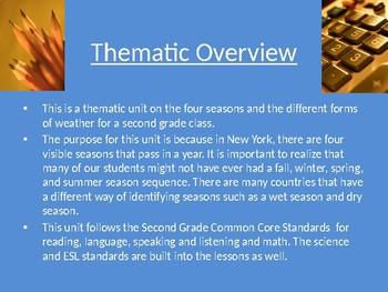 Seasons Thematic Unit