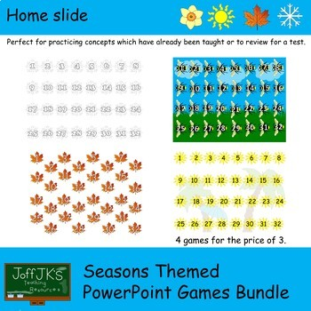 Seasons Themed PowerPoint Review Games Bundle