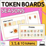 Seasons Token Boards Digital Visual Reward Charts for Google Slides™