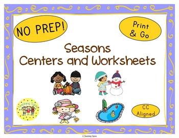 Seasons Worksheets Activities Games Printables and More